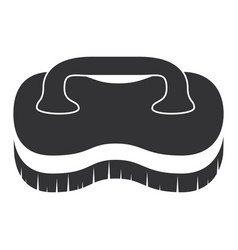 Handle brush cleaner icon vector