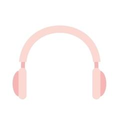 Headphone audio device isolated icon vector