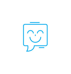 joyful speech linear icon concept joyful speech vector image