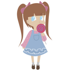 little girl with lollypop vector image