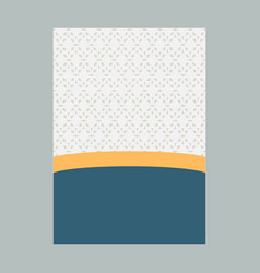 minimal luxury cover design with pattern element vector image