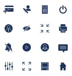 Modern flat icons collection interface vector