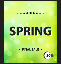 Modern style spring vertical banner final sale vector