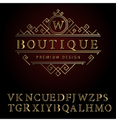 Monogram design elements english letters elegant vector