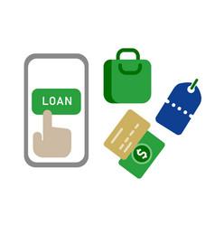 online mobile peer to peer lending loan vector image