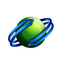 Planet logo orbit and satellite logo cosmos logo vector