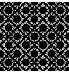 Polka dot and rhombus geometric seamless pattern vector