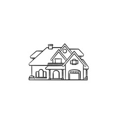private house hand drawn outline doodle icon vector image