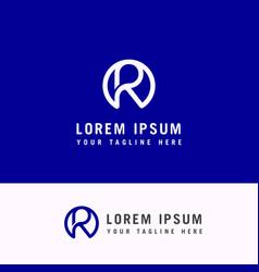 r letter logo lines emblem sign element icon vector image