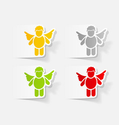 Realistic design element angel vector