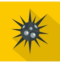 Round cell virus icon flat style vector