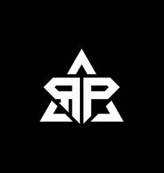 rp monogram logo with diamond shape and triangle vector image