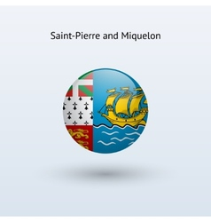 Saint-Pierre and Miquelon round flag vector