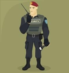 Security man vector