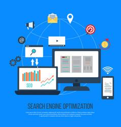 seo concept search engine optimization vector image