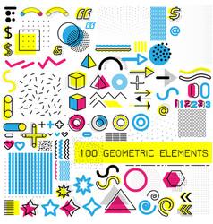 Set memphis design elements template for your vector