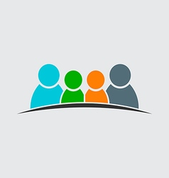 Teamwork Family Logo Four members image vector