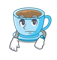Waiting milk tea isolated with the mascot vector