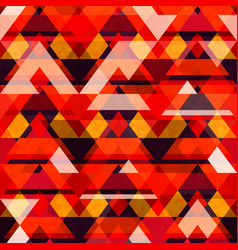 Warm color mosaic seamless pattern vector