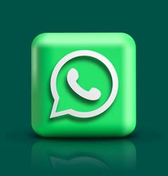 Whatsapp icon 3d social media icon vector