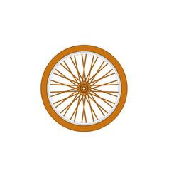 Wooden bicycle wheel vector