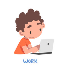 Work word verb expressing action vector