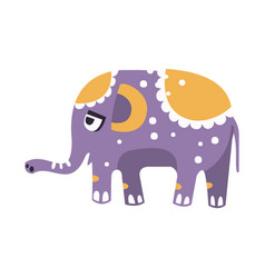 cute cartoon elephant character side view vector image vector image