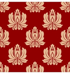 Damask style repeat floral design vector image