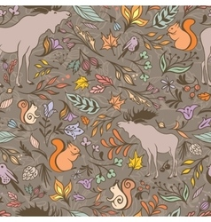 Fall Forest Pattern vector image vector image
