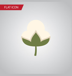 Isolated bud flat icon cotton element can vector