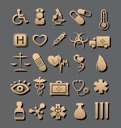 Medic icon vector
