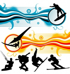 sport graphics vector image