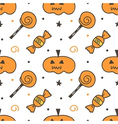 Trick or treat halloween seamless pattern vector image vector image