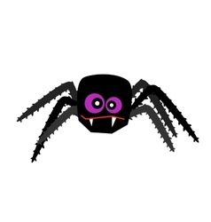 Halloween spider isolated on white vector image vector image