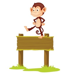 Monkey sign vector image