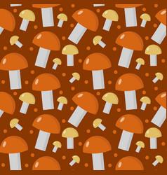 Mushrooms seamless pattern boletus edulis endless vector
