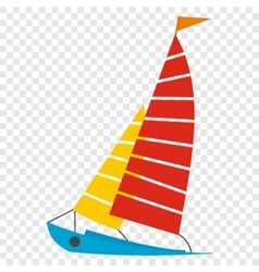 Sailing yacht icon vector image vector image