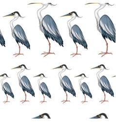 Seamless background with crane birds vector