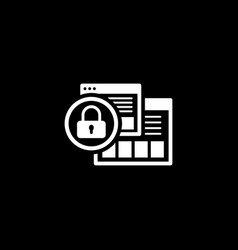 security level icon flat design vector image vector image