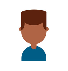 young man black character vector image
