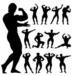 body building vector image vector image