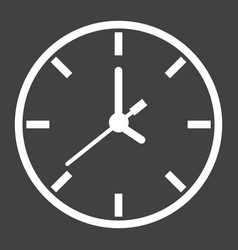 clock line icon time and website button vector image