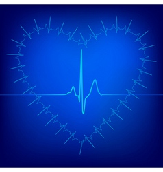 heart beat background vector image