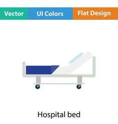 Hospital bed icon vector image vector image