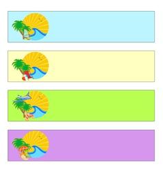 summer holidays banner set vector image vector image