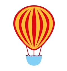 balloon air basket flying icon vector image