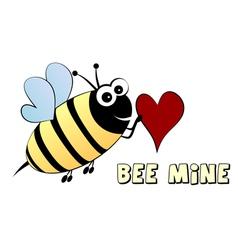 Bee mine- love concept vector image