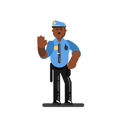 black police officer vector image