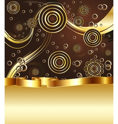 Brown and Gold Background5 vector image vector image