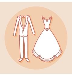 Design element for wedding greeting card Vintage vector image vector image